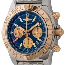 Breitling Chronomat 44 GMT Zlato/Zeljezo 44mm Plav-modar