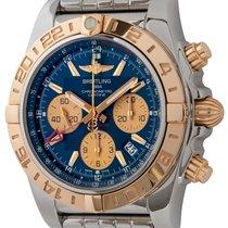 Breitling Chronomat 44 GMT Or/Acier 44mm Bleu
