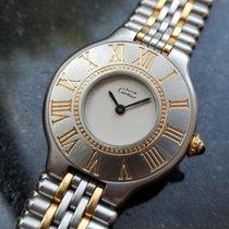 Cartier 21 Must de Cartier Gold/Stahl 26mm Weiß