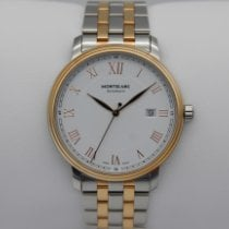 Montblanc Tradition Gold/Steel 40mm White Roman numerals