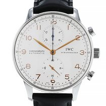 IWC Portuguese Chronograph occasion 41mm Argent Chronographe Cuir