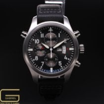 IWC Pilot Double Chronograph occasion 46mm Gris Cuir