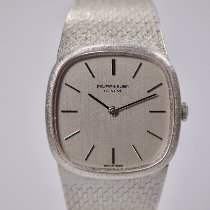 Favre-Leuba White gold Manual winding Silver No numerals 31mm pre-owned