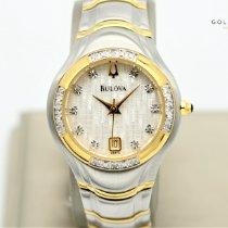 Bulova Diamond Acier 27mm Blanc Sans chiffres