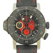 冠星 Airman 钢 46mm 红色 阿拉伯数字