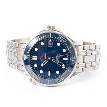 Omega Seamaster Diver 300 M Сталь 41mm Синий Без цифр