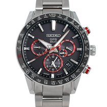 Seiko Astron GPS Solar Chronograph Steel 43mm Black No numerals United States of America, New York, Greenvale