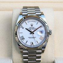 Rolex Day-Date 40 White gold 40mm White Roman numerals United States of America, New York, New York