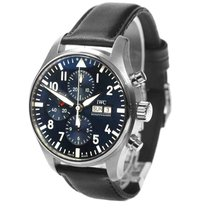 IWC Pilot Chronograph Steel 43mm Blue Arabic numerals United States of America, New York, Greenvale