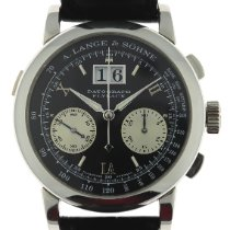 A. Lange & Söhne Platinum Manual winding Black Roman numerals 39mm pre-owned Datograph