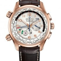 Zenith El Primero Doublematic Rose gold 45mm Silver Arabic numerals United States of America, Texas, Houston