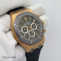 Audemars Piguet Royal Oak Chronograph Oro rosa 41mm Negro Sin cifras