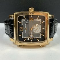 Ulysse Nardin Quadrato Dual Time Pозовое золото 42mm Чёрный Aрабские