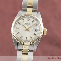 Rolex Lady-Datejust Zlato/Zeljezo 26mm Srebro