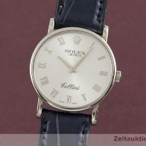 Rolex Cellini Bjelo zlato 31.5mm Srebro