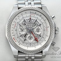 Breitling Bentley B04 GMT Stahl 49mm Silber