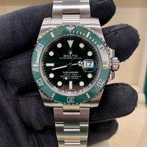 Rolex Submariner Date Acciaio 40mm Verde Senza numeri Italia, Milano