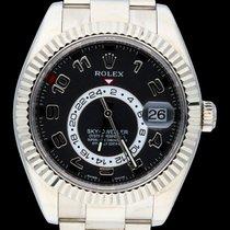 Rolex Sky-Dweller occasion 42mm Noir Date GMT Or blanc