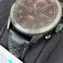 Oris Audi Sport pre-owned 44mm Black Chronograph Date Weekday Leather