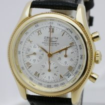 Zenith Yellow gold Automatic Silver 39mm pre-owned El Primero