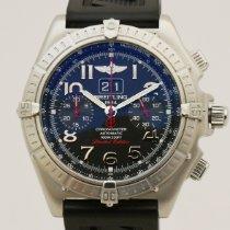 Breitling Crosswind Special Stahl 44mm Blau Keine Ziffern