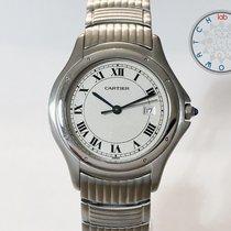 Cartier Cougar Stahl 33mm Weiß Römisch Schweiz, Chiasso