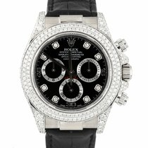 Rolex Daytona Or blanc 40mm Noir