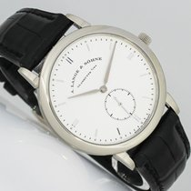 A. Lange & Söhne Saxonia White gold 37mm Silver (solid) No numerals