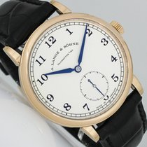 A. Lange & Söhne Red gold Manual winding Silver (solid) Arabic numerals 38.5mm pre-owned 1815