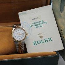 Rolex Lady-Datejust Zlato/Zeljezo 31mm Bjel Bez brojeva