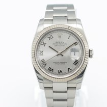 Rolex Steel Automatic Silver 36mm pre-owned Datejust