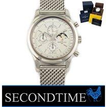 Breitling Transocean Chronograph 1461 Stahl 43mm Silber Keine Ziffern