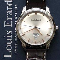 Louis Erard nuevo Cuarzo Esfera con guilloques 40mm Acero Cristal de zafiro