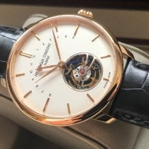 Frederique Constant Manufacture Tourbillon Rose gold 43mm White No numerals