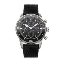 Breitling Superocean Héritage Chronograph Steel 44mm Black No numerals
