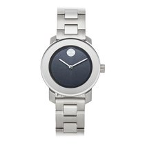 Movado Bold Steel 30mm Blue No numerals United States of America, Pennsylvania, Bala Cynwyd