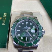 Rolex Submariner Date подержанные 40mm Зелёный Дата Сталь