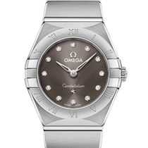 Omega Constellation Quartz Acero 25mm Gris