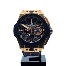 Hublot Big Bang Ferrari pre-owned 45mm Transparent Chronograph Date Leather