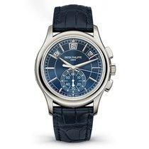 Patek Philippe Annual Calendar Chronograph Platine 42mm Bleu Sans chiffres