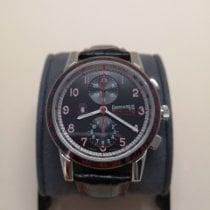 Eberhard & Co. Tazio Nuvolari pre-owned 43mm Black Chronograph Tachymeter Crocodile skin