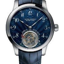 Ulysse Nardin Or blanc Remontage manuel Bleu Arabes 44mm nouveau Classic Ulysse Anchor Tourbillon