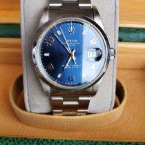 Rolex Oyster Perpetual Date Acier 34mm Bleu Arabes France, Thonon les bains
