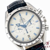 Omega Speedmaster Broad Arrow pre-owned White Chronograph Leather