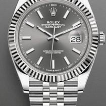 Rolex Datejust Acero 41mm Gris Sin cifras
