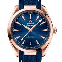 Omega Seamaster Aqua Terra Rose gold 41mm Blue No numerals