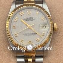 Rolex Lady-Datejust Oro/Acciaio 31mm Bianco Senza numeri Italia, milano