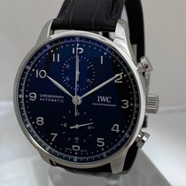 IWC Portuguese Chronograph Steel 41mm Black Arabic numerals