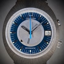 Omega Memomatic Steel 40mm Blue No numerals