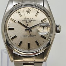 Rolex Oyster Perpetual Date Stål 34mm Sølv Ingen tall